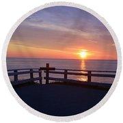 Sunrise At Cape Spear St Johns Newfoundland Round Beach Towel
