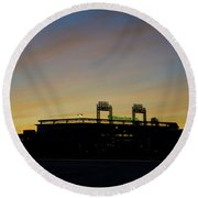 Sunrise At Citizens Bank Park Round Beach Towel