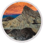 Sunrise At Manly Beacon Round Beach Towel