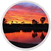 Sunrise At Polly's Round Beach Towel