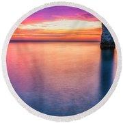 Summer Sunrise Selwick Bay Flamborough Round Beach Towel