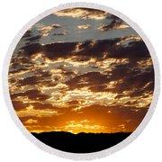 Sunrise At Spirit Lake Sanctuary 20140710 0604 Round Beach Towel