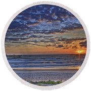 Sunrise At The Beach Round Beach Towel