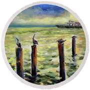 Sunrise At The Inlet By Julianne Felton 2-24-14 Round Beach Towel