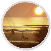 Sunrise At Topsail Island 2 Round Beach Towel