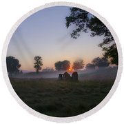 Sunrise At Whitemarsh Round Beach Towel