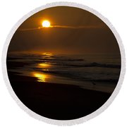 Sunrise Atlantic Beach Nc Round Beach Towel