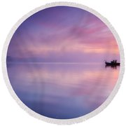 Sunrise Bay Round Beach Towel