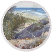 Sunrise Beach Dunes Sunshine Coast Qld Australia Round Beach Towel