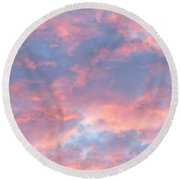 Sunrise Clouds Round Beach Towel