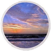 Sunrise Cloudshadows Round Beach Towel