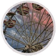 Sunrise Ferris Wheel Round Beach Towel