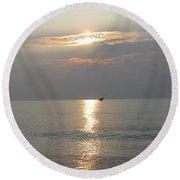 Sunrise Flight Round Beach Towel