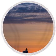 Sunrise Genesis Round Beach Towel
