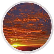 Sunrise In Colombia Round Beach Towel
