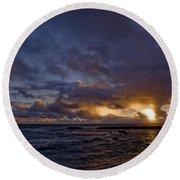 Sunrise In Paradise Round Beach Towel