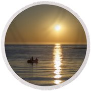 Sunrise In Stone Harbor New Jersey Round Beach Towel