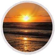 Sunrise In Texas 4 Round Beach Towel