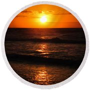 Sunrise In Texas 5 Round Beach Towel