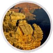 Sunrise In The Canyon Round Beach Towel