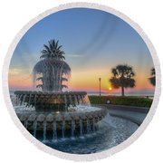 Sunrise In The Lowcountry Round Beach Towel