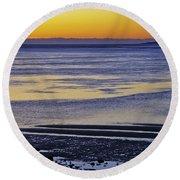 Sunrise Ipswich Bay Round Beach Towel