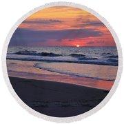 Sunrise Round Beach Towel