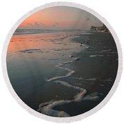 Sunrise On Daytona Round Beach Towel