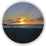 Sunrise On Deerfield Beach Round Beach Towel