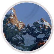 1m9333-h-sunrise On Grand Teton Round Beach Towel