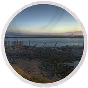Sunrise On The Coquille River Round Beach Towel
