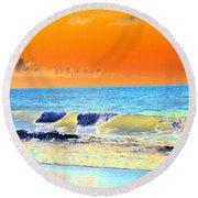 Sunrise On Tybee Island - Photopower 168 Round Beach Towel