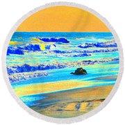 Sunrise On Tybee Island - Photopower 169 Round Beach Towel