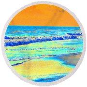 Sunrise On Tybee Island - Photopower 170 Round Beach Towel
