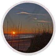 Sunrise Outer Banks Norht Carolina Img_3721 Round Beach Towel