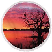 Sunrise Over Coongee Lakes Round Beach Towel