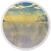 Sunrise Over Glacial Bay Round Beach Towel