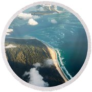 Sunrise Over Paradise Round Beach Towel
