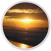 Sunrise Over Point Lonsdale Round Beach Towel