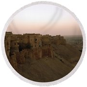 Sunrise Over The Fort Round Beach Towel