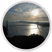 Sunrise Over The Golden Gate Round Beach Towel