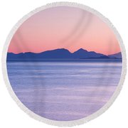 Sunrise Over The Islands Round Beach Towel