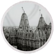 Sunrise Over The Jain Temples Round Beach Towel