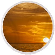 Sunrise Over The Sea Of Cortez Round Beach Towel