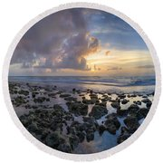 Sunrise Panorama Round Beach Towel