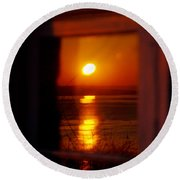 Sunrise Refection Round Beach Towel