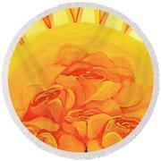 Sunrise Roses Round Beach Towel