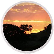 Sunrise Scenery Round Beach Towel
