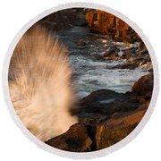 Sunrise Splash Round Beach Towel