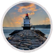 Sunrise Spring Point Ledge Round Beach Towel